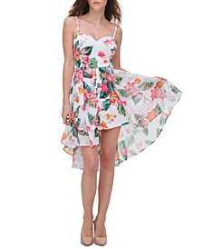 Printed Scuba Crepe A-Line Dress