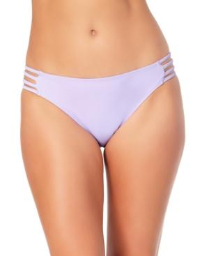 Juniors' Strappy Hipster Bikini Bottoms