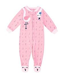 Baby Girls Flamingo Footie