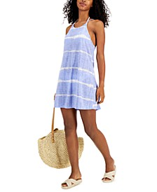 Juniors' Tie-Dye Knotted Tank Cover-Up, Created for Macy's