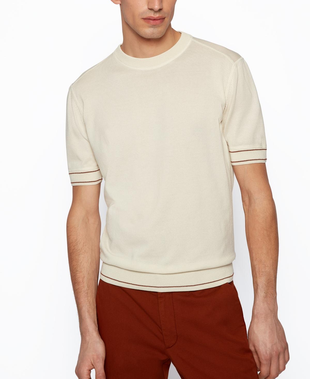 1960s Mens Shirts | 60s Mod Shirts, Hippie Shirts Boss Mens T-Shirt-Style Sweater $178.00 AT vintagedancer.com