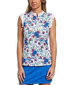 Women's Floral-Print Golf Shirt