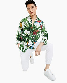 Men's Jungle Print Shirt, Created for Macy's
