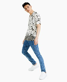 Men's Rob Leopard Floral Shirt, Created for Macy's