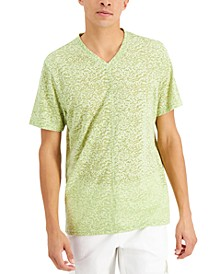 Men's Pieced Textured Burnout V-Neck T-Shirt, Created for Macy's