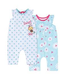 Baby Girls Bee Romper, 2 Piece Set
