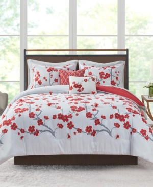 Addison Park Closeout!  Blossom 9-pc. Queen Comforter Set Bedding In Red
