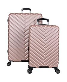 Madison Square 2-Pc. Chevron Expandable Luggage Set