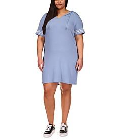Plus Size Logo-Print Terry Hoodie Dress