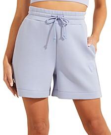 High-Rise Drawstring Shorts