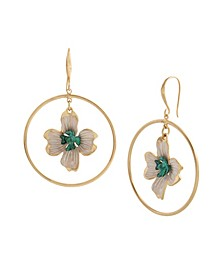 Patina Flower Orbital Earrings