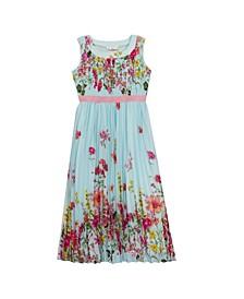Big Girls Printed Chiffon Maxi Dress