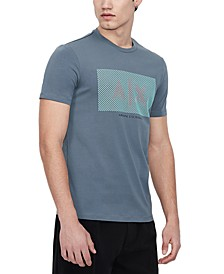 Men's Raindrop Pixel Logo Graphic T-Shirt