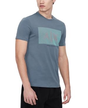 AX Armani Exchange Men's Raindrop Pixel Logo Graphic T-Shirt