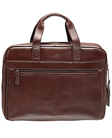 """Beverly Hills Collection Men's Single Compartment Briefcase with RFID Secure Pocket for 15.6"""" Laptop and Tablet"""