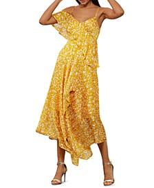 Asymmetrical Ruffled Dress