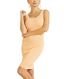 Agatha Square-Neck Ribbed Sweater Dress