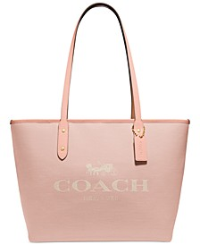 Horse and Carriage Jacquard City Zip Tote