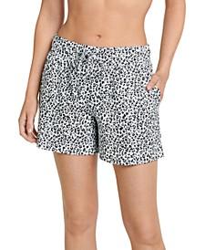 Women's Cotton Boxer Pajama Shorts