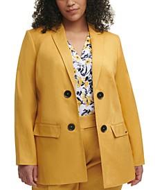 Plus Trendy Open-Front Blazer