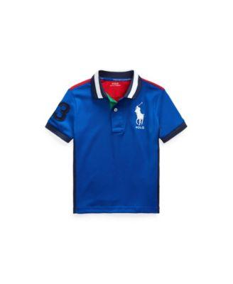 폴로 랄프로렌 Polo Ralph Lauren Little Boys Performance Stretch Mesh Polo Shirt,Sapphire Star