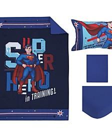 Superman Super Hero in Training 4 Piece Toddler Bed Set