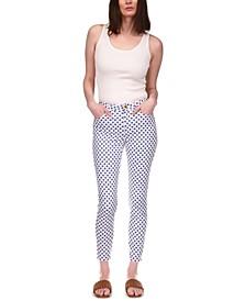 Selma Medallion-Print Cropped Jeans, in Regular & Petites