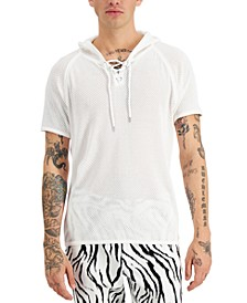 Men's Knit Mesh Short Sleeve Hoodie, Created for Macy's