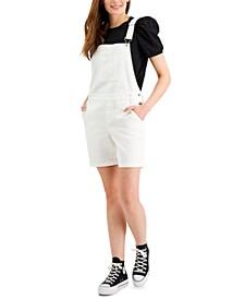 Petite Denim Shortalls, Created for Macy's
