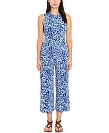 Printed Belted D-Ring Jumpsuit