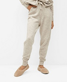Knit Jogger-Style Trousers