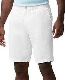 Men's Linen the Good Life Elastic-Waist Shorts