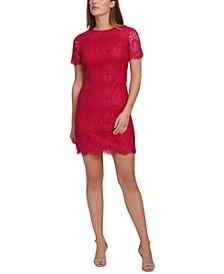 Scallop Lace Sheath Dress