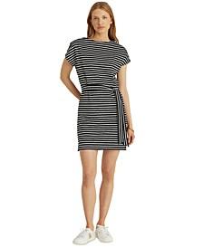 Petite Striped T-Shirt Dress