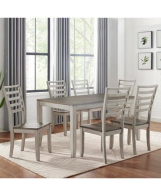 Abacus Dining 7-Pc. Set ( Table + 6 Side Chairs)