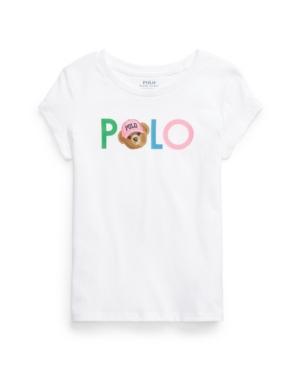 Polo Ralph Lauren Tops LITTLE GIRLS POLO BEAR LOGO JERSEY TEE