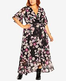 Plus Size Amore Floral Maxi Dress