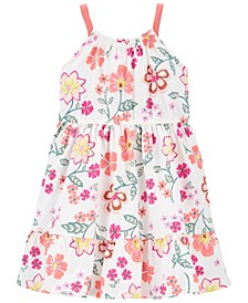 Toddler Girls Floral Tiered Jersey Dress