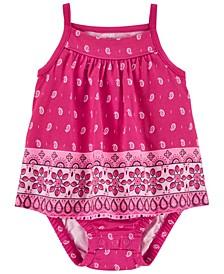 Baby Girls Floral Tank Sun Suit