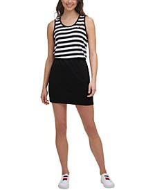 Women's Striped Colorblocked Dress