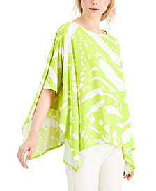 Abstract-Print Poncho Top, Created for Macy's