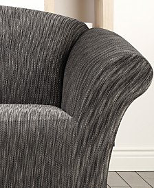 Sure Fit Stretch Space Dye 1-Piece Loveseat Slipcover