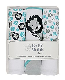 Baby Boys and Girls Hooded Baby Towel Set, Pack of 3