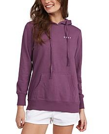 Juniors' Graphic-Print Hooded Sweatshirt