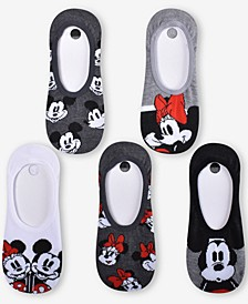5-Pk. Mickey & Minnie Mouse Soul Mates Liner Socks