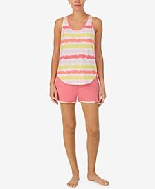 Tie-Dyed Tank Top & Shorts Sleep Set