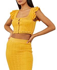 Cotton Crochet Crop Top