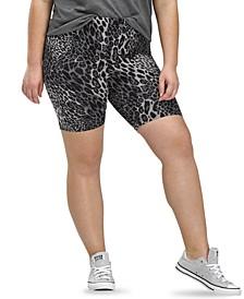 Essentials Wavy Leopard Bike Shorts