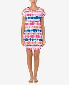 Women's Multi Tie Dye Knit Sleep T-shirt