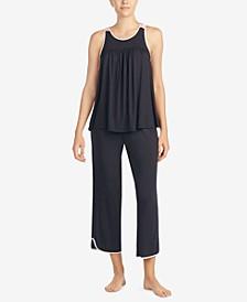 Women's Sleeveless Modal Knit Cropped Pajama Set
